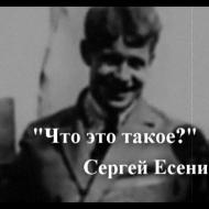С.Есенин Что это такое